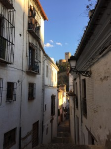 alhambra through street